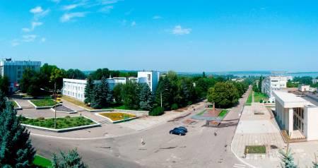 Панорама города, пл. Щербицкого